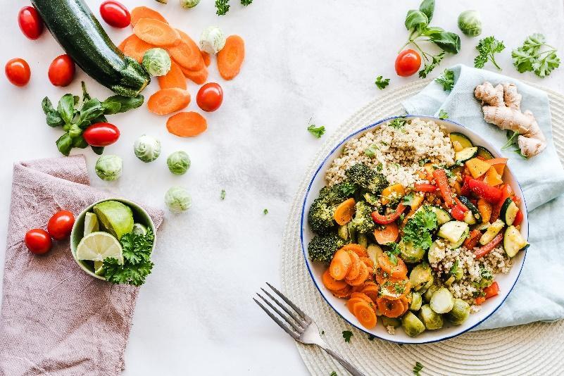 紅黃橘綠色蔬果含豐富葉黃素